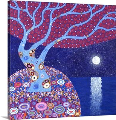 Midnight Moon, 2016, (acrylic on canvas)