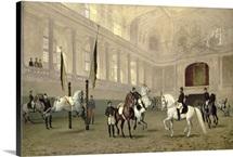 Morning Exercise in the Hofreitschule, Josephsplatz, 1890