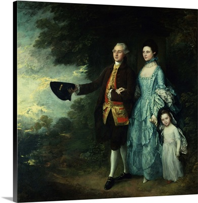 Mr. And Mrs. George Byam And Their Eldest Daughter, Selina, C.1764
