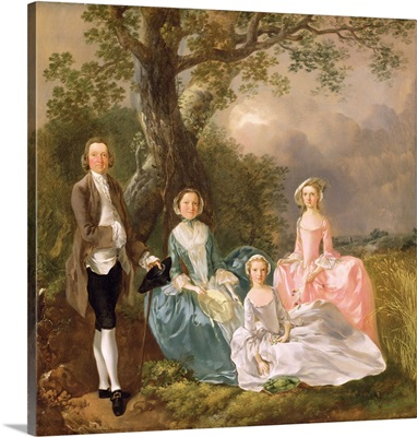 Mr and Mrs John Gravenor and their Daughters, Elizabeth and Ann