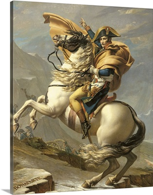 Napoleon (1769 1821) Crossing the Alps at the St Bernard Pass