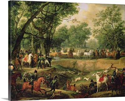 Napoleon on a hunt in the Compiegne Forest, 1811