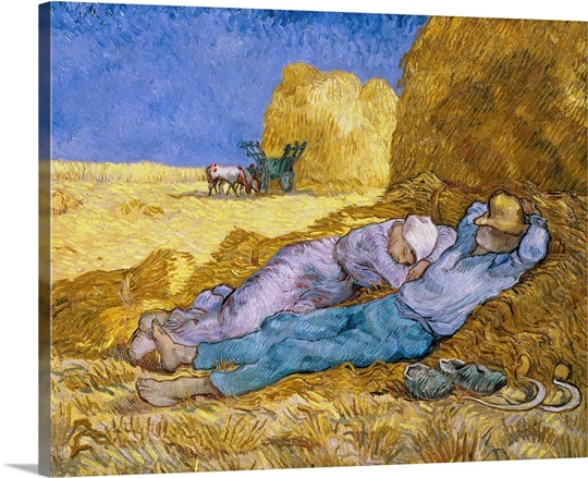 Noon, or The Siesta, after Millet, 1890 (oil on canvas)