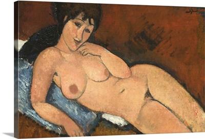 Nude on a Blue Cushion, 1917