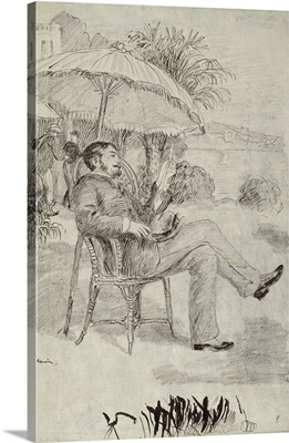 On the Terrace of a Hotel in Bordighera: The Painter Jean Martin Reviews his Bill, 1881