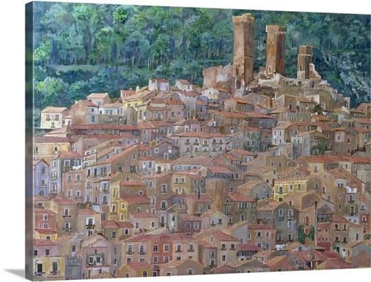 Pacentro Abruzzi Italy Wall Art Canvas Prints Framed