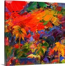 Paysage Polynesien, 2011 (oil on canvas)