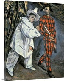 Pierrot and Harlequin (Mardi Gras), 1888 (oil on canvas)