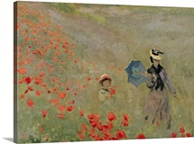 Poppies at Argenteuil, detail, 1873