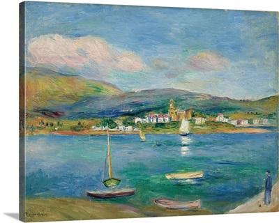 Port De Peche, Vue De Fontarabie Depuis Hendaye, 1895
