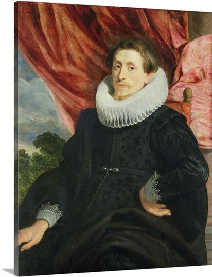 Portrait of a Man, c.1619 (oil on oak panel)