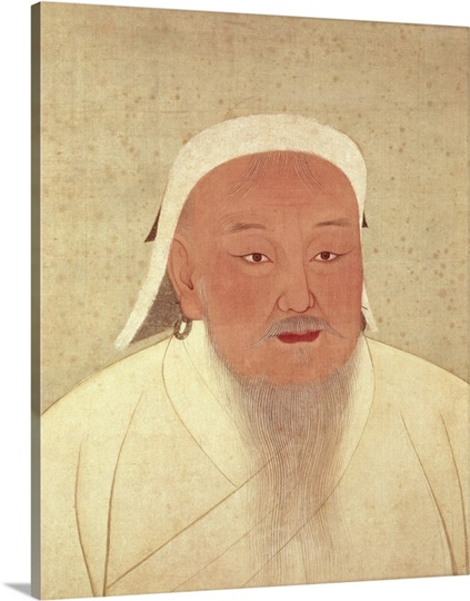Portrait of Genghis Khan (c.1162-1227), Mongol Khan