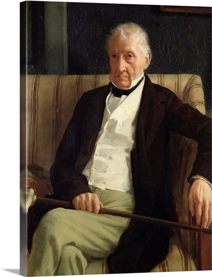Portrait of Hilaire Degas (1770 1858), grandfather of the artist, 1857 (oil on canvas)