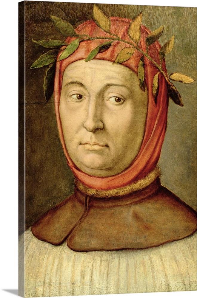 Portrait of Petrarch (Francesco Petrarca) (1304-74) (oil ...