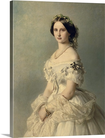 Portrait of Princess of Baden, 1856 Wall Art, Canvas Prints, Framed ...