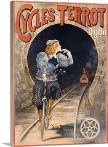Poster advertising Cycles Terrot, printed by P. Vercasson, Paris, c.1900 (colour litho)