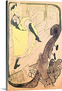 Poster advertising Jane Avril (1868 1943) at the Jardin de Paris, 1893 (colour litho)
