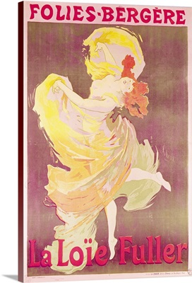 Poster advertising Loie Fuller (1862 1928) at the Folies Bergeres, 1897