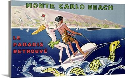 Poster advertising Monte Carlo Beach, printed by Draeger, Paris, c.1932