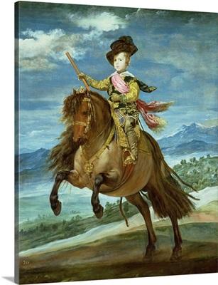 Prince Balthasar Carlos on horseback, c.1635-36