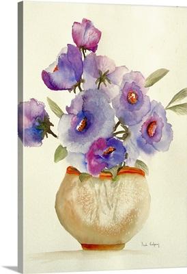 Purple Anemones in a Vase