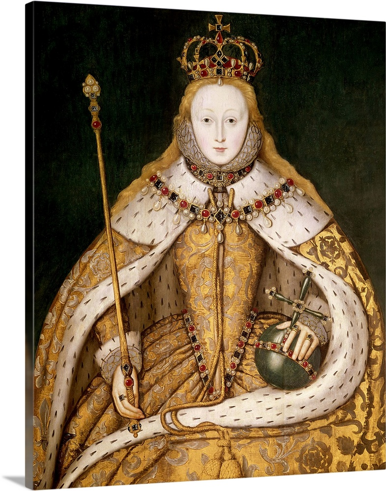 queen elizabeth i in coronation robes c 1559 1600 wall art canvas prints framed prints wall peels great big canvas queen elizabeth i in coronation robes c 1559 1600 solid faced canvas print