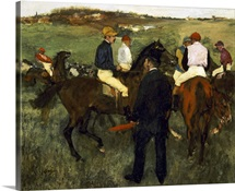 Racehorses (Leaving the Weighing) c.1874-78