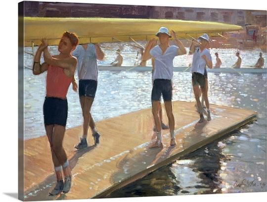 Raft walk, 1994 (oil on canvas)