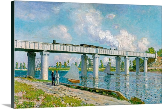 Railway Bridge at Argenteuil, 1873 (oil on canvas)