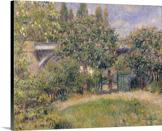 Railway Bridge at Chatou, 1881 (oil on canvas)