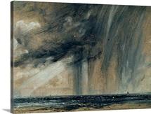 Rainstorm over the Sea, c.1824-28 (oil on paper laid on canvas)