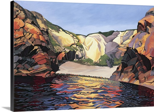 Ramsey Island, Land and Sea No.2 (oil on canvas)