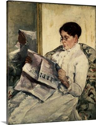 Reading Le Figaro, 1878