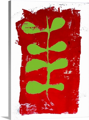 Red And Green Monoprint 2018
