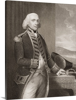 Richard Howe, 1st Earl Howe, illustration from 'England's Battles by Sea and Land'