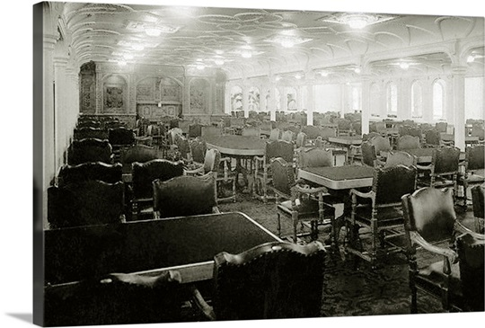 RMS Titanic: 1st Class Dining Saloon on D-Deck, 1912 Wall Art ...