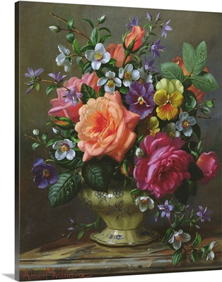 Roses and pansies