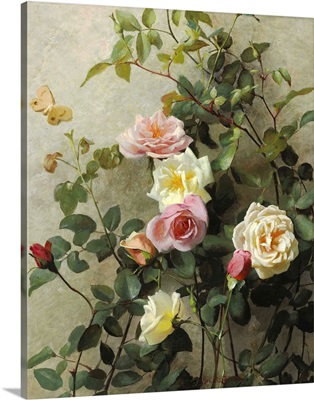 Roses on a Wall, 1877