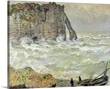 Rough Sea at Etretat, 1883 (oil on canvas)
