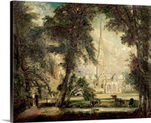 Salisbury Cathedral from the Bishops Grounds, c.1822 23 (oil on canvas)