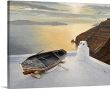 Santorini 7, 2010 (oil on board)