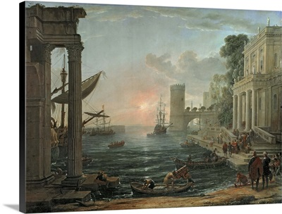 Seaport with the Embarkation of the Queen of Sheba, 1648
