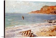 Seascape at Sainte-Adresse (oil on canvas)