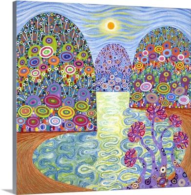 Secret Lagoon, 2016, (acrylic on canvas)
