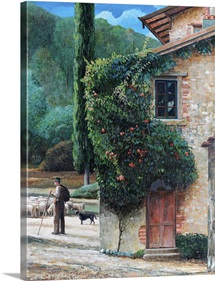 Shepherd, Peralta, Tuscany, 2001 (oil on canvas)
