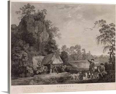 Shooting, plate 1, engraved by William Woollett (1735-85) 1769