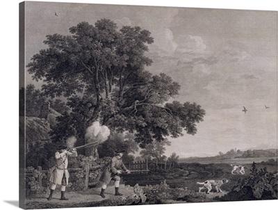 Shooting, plate 3, engraved by William Woollett (1735-85) 1770