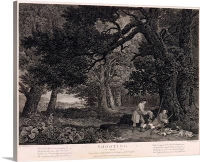 Shooting, plate 4, engraved by William Woollett (1735-85) 1771