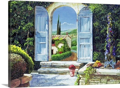 Shuttered Doorway, Volterra, Italy, 1999