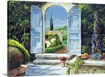 Shuttered Doorway, Volterra, Italy, 1999 (oil on board)